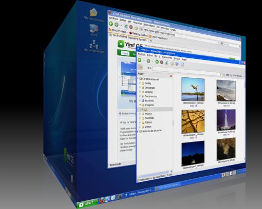 Escritorio Ylmf OS en Windows XP