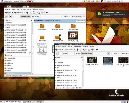 Actualización y sincronización de archivos